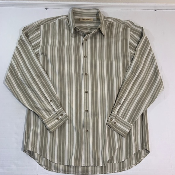 Tommy Bahama Other - Tommy Bahama Silk Long Sleeve Button Shirt L
